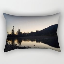Cowlitz River Sunset Rectangular Pillow
