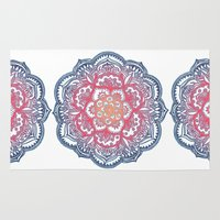 bedding Area & Throw Rugs featuring Radiant Medallion Doodle by micklyn