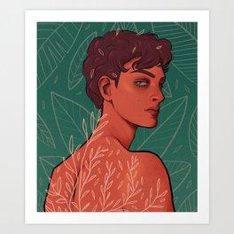 adam ╱ leaves Art Print