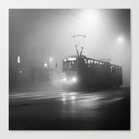 number Canvas Prints featuring TRAM NUMBER 13 by TOM MARGOL