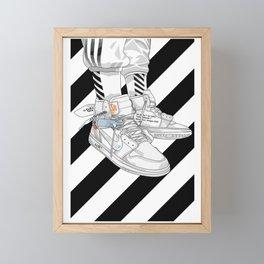 Jordan 1 Off White Poster Framed Mini Art Print