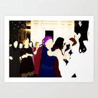 jewish Art Prints featuring Jewish wedding by Design4u Studio