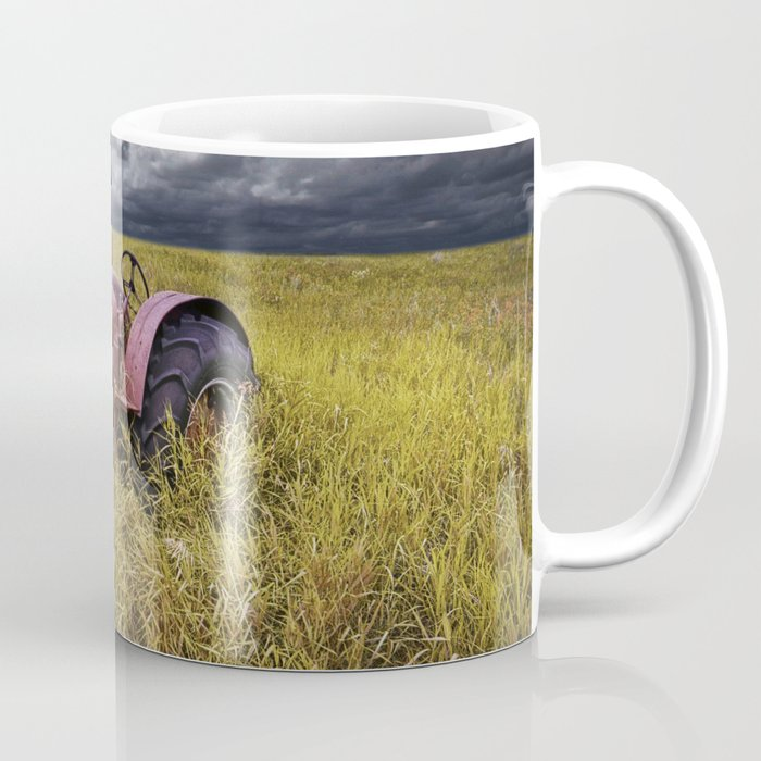 Abandoned Farm Tractor on the Prairie Coffee Mug