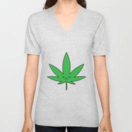 Weed Leaf Unisex V-Neck