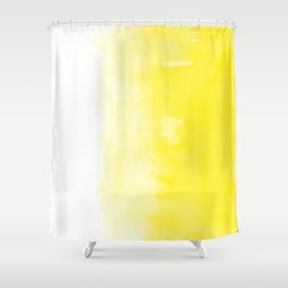 Yellow Ombre Shower Curtain