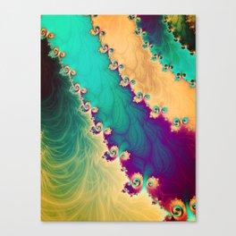 Coloured Smoke Trails Canvas Print
