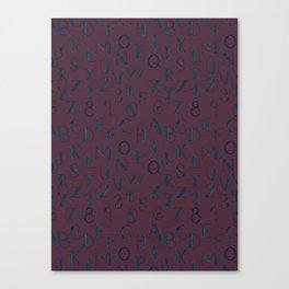 Abc's & 123's Canvas Print