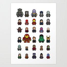 All Characters Art Print