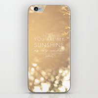 you are my sunshine iPhone & iPod Skins featuring You Are My Sunshine by Sandra Arduini