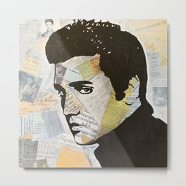 Elvis «Love Song» Metal Print