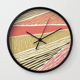 Modern irregular Stripes 05 Wall Clock