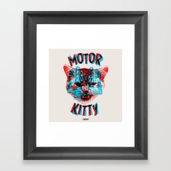 Motor Kitty Framed Art Print