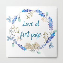 Love at first page Metal Print
