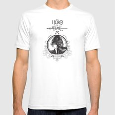 Legend of Zelda Link The Hero of Time Vintage Story Book MEDIUM Mens Fitted Tee White