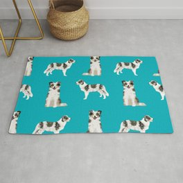Border Collie dog breed gifts collies herding dogs pet friendly Rug