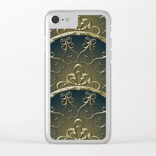 Golden Nemo Pattern Clear iPhone Case