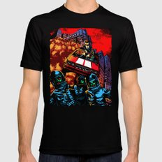 Devil Planet Black Mens Fitted Tee MEDIUM