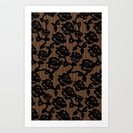 Rose Lace 3  Art Print