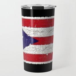 Puerto Rican flag on cloth Travel Mug
