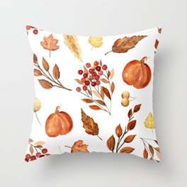 Wheat and Berries Throw Pillow
