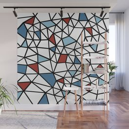 Segment Red and Blue Wall Mural