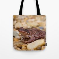 frog Tote Bags featuring Frog by MehrFarbeimLeben