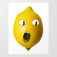 lemongrab Art Prints featuring Lemongrab! by Al's Visions