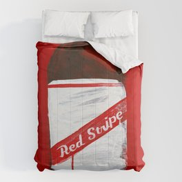 "Red Stripe (2011), 17"" x 27"", acrylic on gesso on chipboard Comforters"