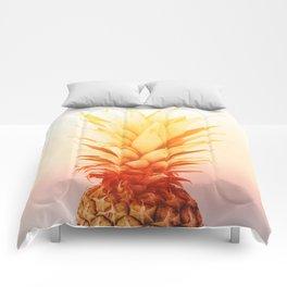 Pineapple#exposure#film#effect Comforters