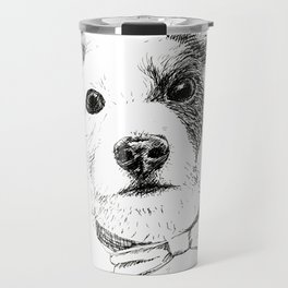 Jack Russell - Bo with a Bow Tie Travel Mug