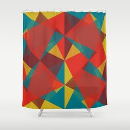 Triangular Pattern #4 Shower Curtain