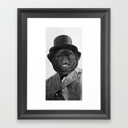 Sir Winston Pug Churchill Framed Art Print