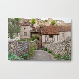 Wandering through Saint Cirq Lapopie Metal Print
