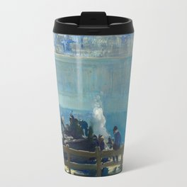 Blue Morning, 1909 by George Bellows Travel Mug