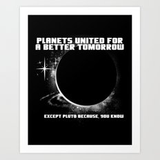 Power to the Planets Art Print