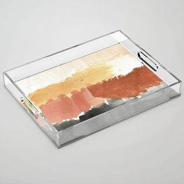 Abstract in Rust n Clay Acrylic Tray