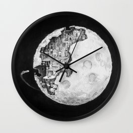 Party in the Moon Wall Clock