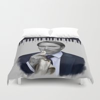 hannibal Duvet Covers featuring Hannibal by firatbilal