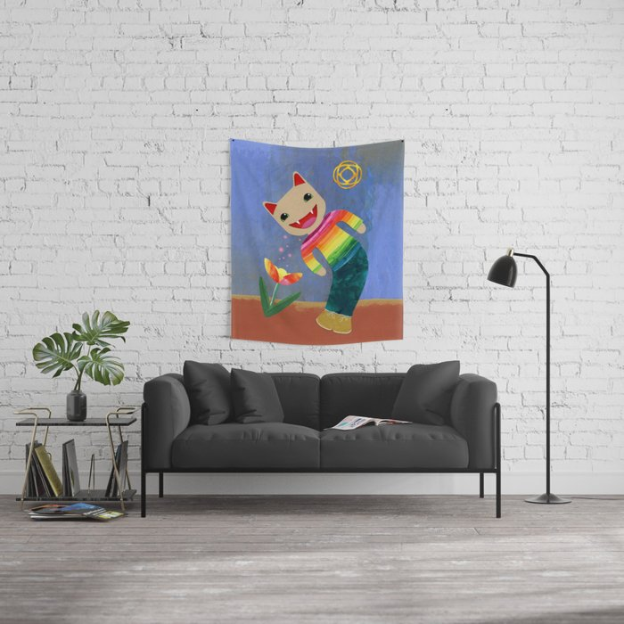 happiness spores Wall Tapestry