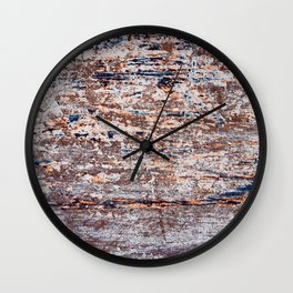 Old Boat Blue Wall Clock