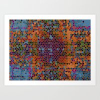 funky Art Prints featuring funky by mari3000