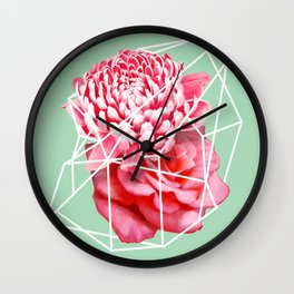 Floral Voronoi Wall Clock