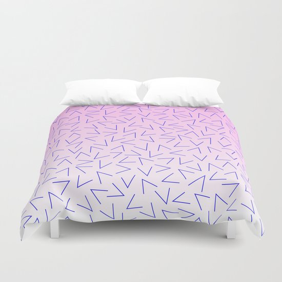 80's Pattern Gradient Duvet Cover