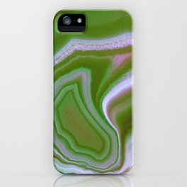 green colored agate iPhone Case
