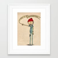 "adventure Framed Art Prints featuring ""THIS IS AN ADVENTURE."" - Zissou by Derek Eads"