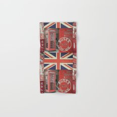 Great Britain London Union Jack England Hand & Bath Towel
