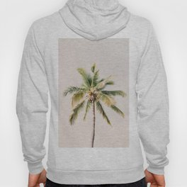 Palm tree - beige minimalist tropical photography in hd Hoody