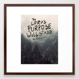 Proverbs 19:21 Framed Art Print