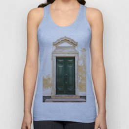 Old door in Tavira, Portugal Unisex Tank Top