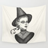 witchcraft Wall Tapestries featuring Witchcraft by Caitlin McCarthy